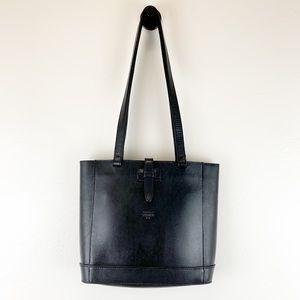 Michael Green Scandiabag VTG Black Leather Handbag